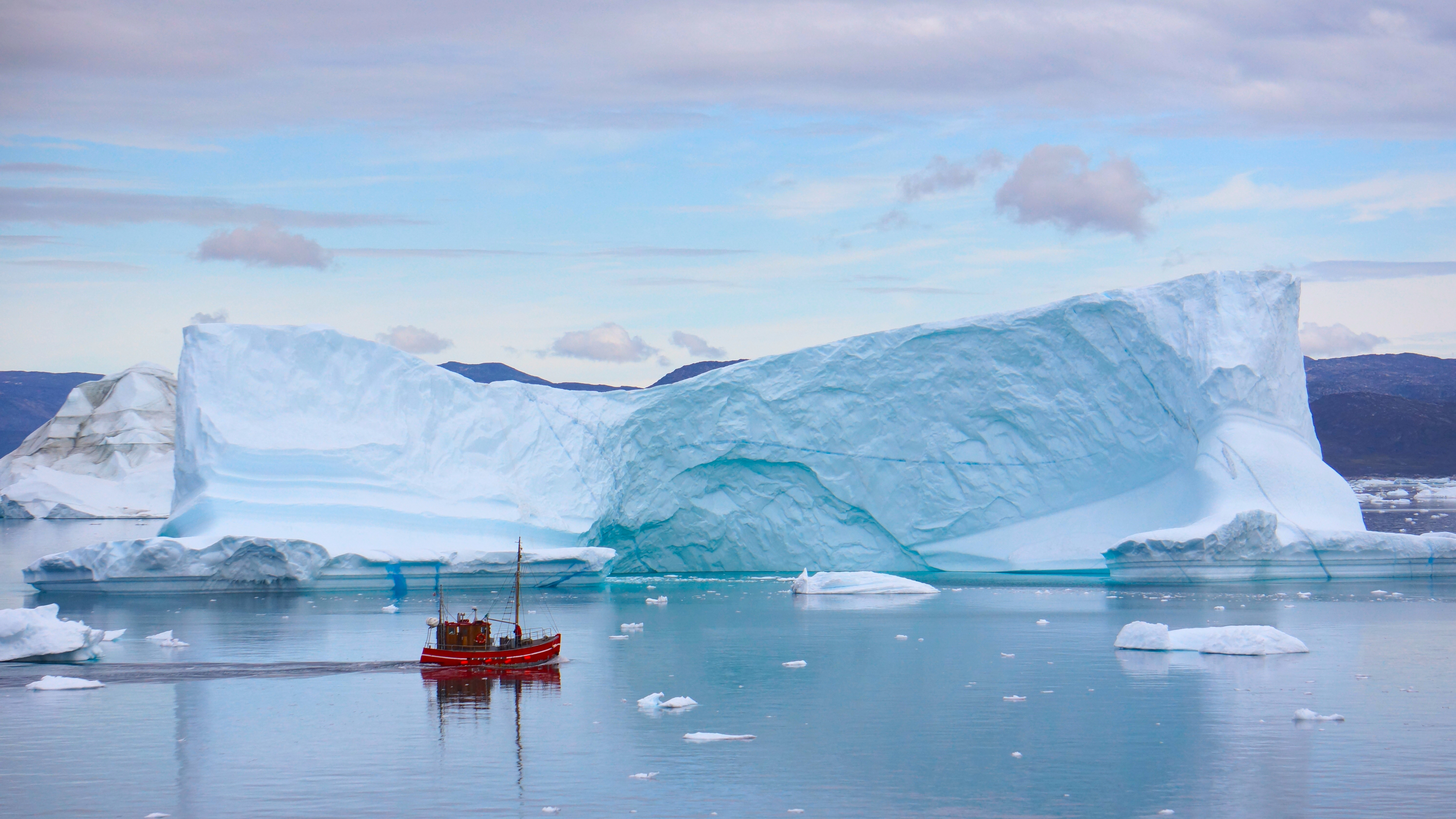 A Boat Spotted on the Way to Ilulissat, Greenland