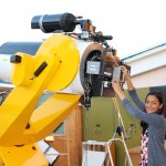 Setting up the telescope bright and early (26 Jul)