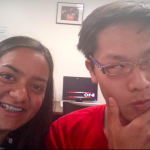 OD Day 4: FINALLY!!! We've determined the orbital elements for our asteroid and their accuracy is incredible! Yaaaaay! In celebration, we have taken a picture of myself being very happy and my team mate Steven wearing my glasses.   Now...time to work on our paper! (1 Aug)